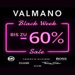 Valmano Black Week Sale mit bis zu 60% Rabatt auf zahlreiche Top-Marken
