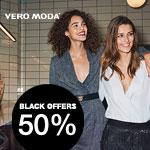 Black Offers im Store von Vero Moda – 50% Rabatt auf ausgewählte, schon reduzierte Ware