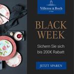 Erhalte eine Woche lang bis zu 200 € Sofortrabatt auf deine Onlinebestellung bei Villeroy & Boch