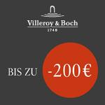 Spare jetzt mit der Villeroy & Boch Black Week bs zu 200 EURO bei deinem Einkauf