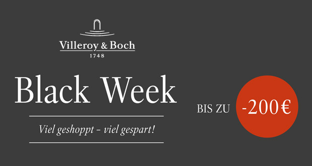 Villeroy & Boch Black Week 2018