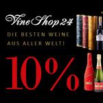 Sicher dir 10% Rabatt auf die besten Weine aus aller Welt bei Vineshop24