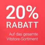 20% Rabatt auf das gesamte Vitstore-Sortiment plus kostenloser Versand!