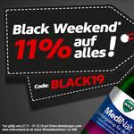 Black Weekend bei der Volksversand Versandapotheke – 11% Rabatt auf alles!*
