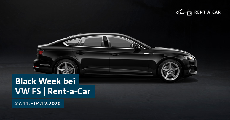 Volkswagen Financial Services   Rent-a-Car Black Friday 2020