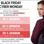 Eine Woche lang bis zu 25% sparen bei der Black Friday – Cyber Monday Woche von wardow!