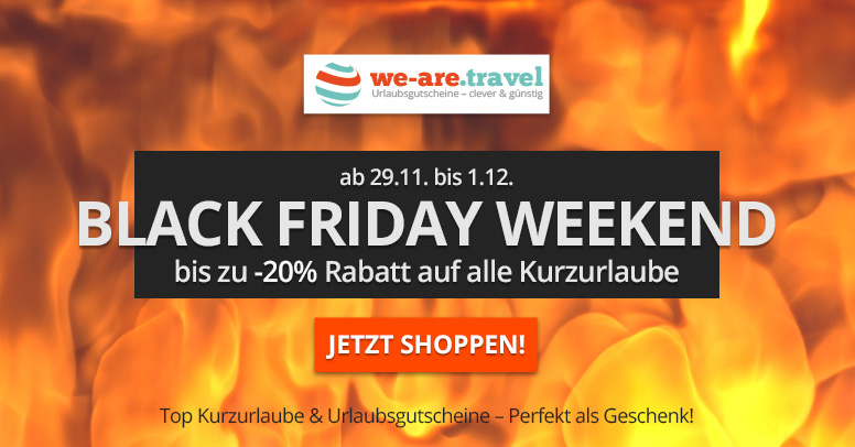 we-are.travel Black Friday 2019
