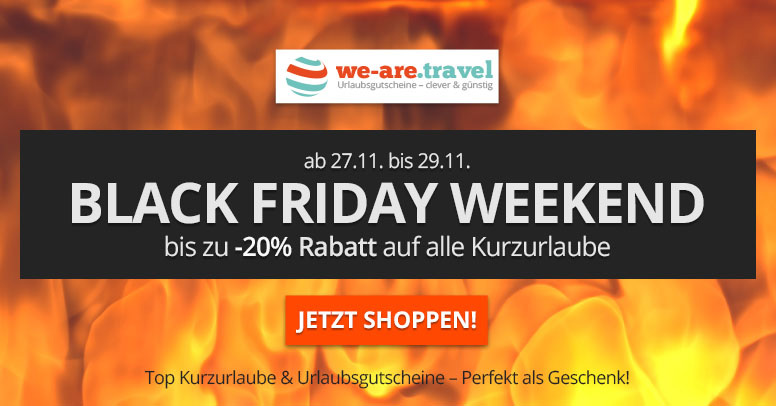 we-are.travel Black Friday 2020