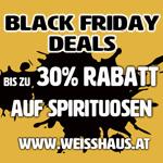 Black Friday Deals im Weisshaus Shop: Spare jetzt bis zu 30% auf Spirituosen!