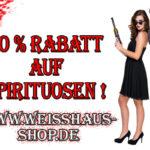 Jetzt 10% Rabatt auf das komplette Sortiment an Spirituosen im Online-Shop von Weisshaus sparen!