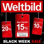 Black Week Sale bei Weltbild – Sicher dir nur heute 15% Rabatt auf deinen Einkauf