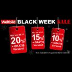 Großer Black Week Sale bei Weltbild – Sicher dir jetzt zwischen 10% und 20% Rabatt