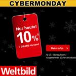 Cyber Monday bei Weltbild – Spare nur heute 10% auf deinen Einkauf