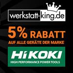 5% Rabatt auf das gesamte HiKOKI® Sortiment im Store von Werkstatt-King.de
