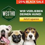 Black Sale bei Westho mit 25% Rabatt auf Tierfutter