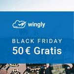 50 EURO Gratisgutschein bei der Mitflugzentrale Wingly!