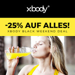 XBODY Black Friday Deal – 25% auf alles!