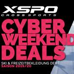 Cyber Weekend Deals bei XSPO – Sicher dir jetzt 20% Rabatt auf Ski & Freizeitbekleidung