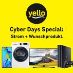 yello Cyber Days Specials – Strom + Wunschgerät oder bis zu 20% Rabatt