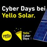Cyber Days bei Yello Solar – Jetzt Solaranlage pachten und 200 EURO sichern!