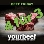 Beef Friday bei yourbeef – Kaufe 4 Ribe Eye und zahle nur 3