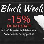 15% Black-Week Rabatt auf ausgewählte Kategorien im Online Store von yourhome!
