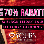 Entdecke jetzt die Yours Clothing Black Friday Angebote!
