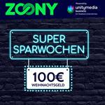 Black Friday Week bei Zoony – Jetzt bis zu 100 EURO Weihnachtsgeld sichern