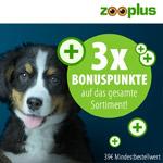 Cyber Weeks bei zooplus! Jetzt 3-fach Bonuspunkte sichern.