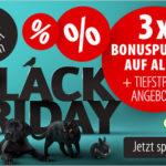 Sicher dir jetzt 3-FACH BONUSPUNKTE bei der Cyber Week zum Black Friday von zooplus