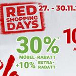 Red Shopping Days im Hause Zurbrüggen – Spare bis zu 30% auf Möbel und mehr