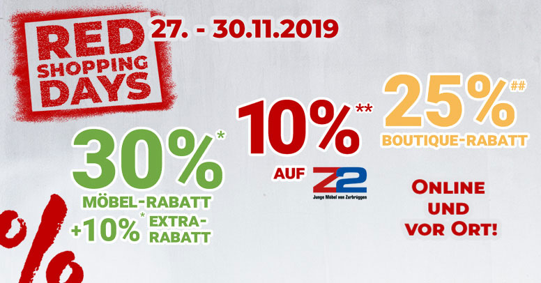 Zurbrüggen Black Friday 2019